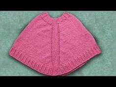 Punto Cardo: para tejer El Poncho en dos agujas - Soy Woolly - YouTube