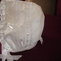 Béguin de baptême traditionnel coton blanc 18 mois