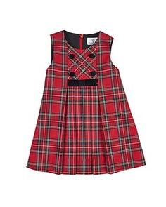 Florence Eiseman Tartan Plaid Pleated Jumper w/ Blouse, Size Frock Design, Baby Dress Design, Baby Girl Dress Patterns, Little Girl Dresses, Girls Dresses, Kids Frocks, Tartan Plaid, Kind Mode, Kids Outfits