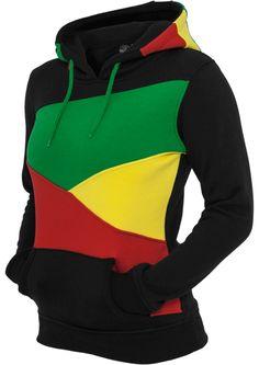 Name: ZIG ZAG Kängurutasche Kapuze mit Tunnelzug Super Passform SLIM FIT Reggae Woman