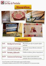 Un Mar de Puntadas: Calendario de monográficos de noviembre y diciembre