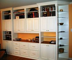 Home Office Wall Unit | White Wall Unit From Closet Factory In Longwood, FL  32750