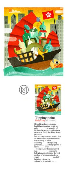 Spot illustrations for Monocle Magazine on Behance