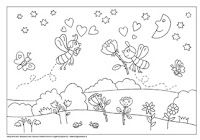 Kleurplaat Insect Coloring Pages, Colouring Pages, Preschool, Teaching, Education, Nature, Drawings, Quote Coloring Pages, Coloring Pages