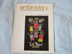 Embroidery magazine Volume 17 No 2 - Summer 1966 The journal of the Embroiderers'Guild by Handwerkboeken on Etsy