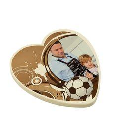 Laat papa genieten van een groot chocolade vaderdagshart speciaal voor hem! €19,95