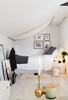 Cozy attic home - via cocolapinedesign.com