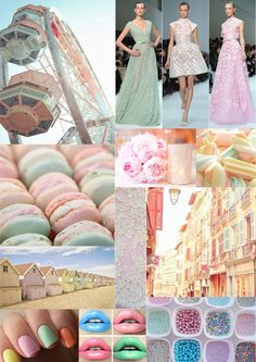 My little pastel ice cream candy colour mood board.