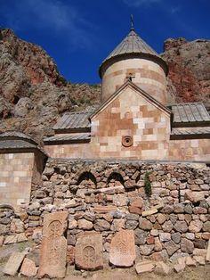 The 10th century Armenian monastery of Narekavank (now destroyed), Lake Van, Vaspurakan (modern Turkey).