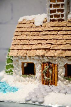 english cottage gingerbread house   shredded wheat roof   RamblingRenovators.ca