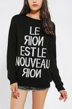 ced085089 Sparkle & Fade The New Black Sweater Online Only Black Sweaters, Sweater  Shirt, Cardigans