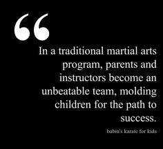 Getting started in traditional martial arts! Quote made by @Pinstamatic