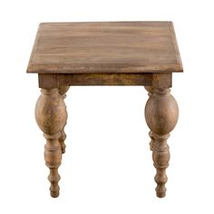 Turned-leg Mango Wood Side Table | Overstock.com Shopping - The Best Deals on Coffee, Sofa & End Tables