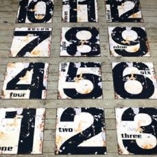 DECORATING WITH NUMBERS | VINTAGE STYLE NUMBERS |  NUMBER WALL ART | LARGE NUMBER SIGNS