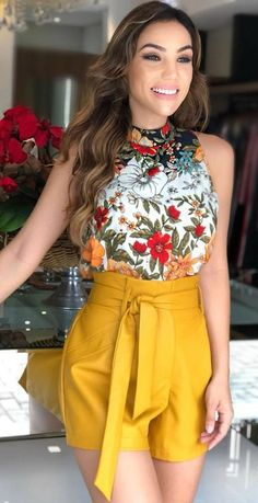 Ideas Brunch Outfit Chic Womens Fashion For 2019 Short Outfits, Chic Outfits, Fashion Outfits, Womens Fashion, Summer Brunch Outfit, Summer Outfits, Summer Shorts, Sunday Outfits, Trendy Dresses