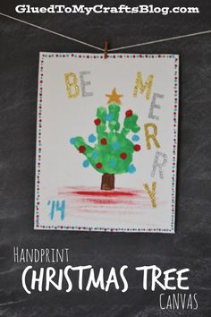 Handprint Christmas Tree Canvas