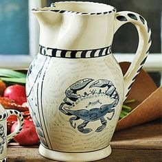 Blue Crab Stoneware Pitcher ...  that's Maryland blue crab, of course