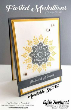 Frosted Medallions; Stampin' Up!