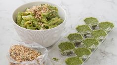 Delicious pesto that goes with any dishes. Whole Wheat Pasta, Mixed Nuts, Hemp Seeds, Oven Roast, Meal Planner, Fresh Herbs, The Fresh, Cooking Time, Kale