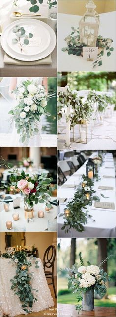Wedding Quotes  : Eucalyptus green wedding color ideas / www.deerpearlflow