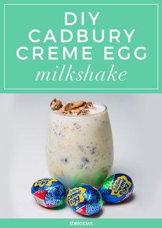 Cadbury Creme Egg milkshake recipe