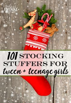 101 Stocking Stuffers For Tween Girls: Need a little inspiration for your tween girls stocking? Or perhaps you need help with gift-giving for a tween girl for a birthday or other occasion? This list should help jump start your search!