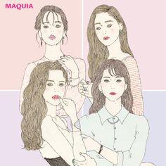 あなたの顔立ちはどれ? 「MAQUIA」4月号から、早わかりチャートとタイプの特徴をピックアップしてお届けします。4タイプ別・早わかりチャートまずは鏡を見ながら、自分の顔型やパーツをチェックしてみて。当てはまる部分が多いところがあなたのタイプ!
