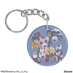 Shop Wild Flowers Key Ring created by Kiss_A_Frog. Cool Mugs, Key Rings, Different Styles, Wild Flowers, Personalized Items, Design, Key Fobs, Wildflowers