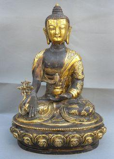 Tibet Bronze Gilt Medicine Buddha StatueBuddhaMore Pins Like This At FOSTERGINGER @ Pinterest