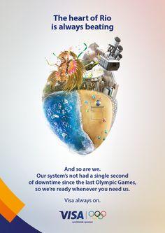 Visa Rio 2016 Olympic Games Campaign | Abduzeedo Design Inspiration