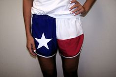 Women's Texas Flag Shorts RWB