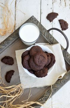 Anja's Food 4 Thought: Vegan Chocolate Teff Cookies. My kids loved them. That's the best compliment a cookie can get. #glutenfree #glutenfreeholiday ----------------------------------------------------