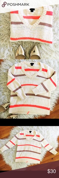 Cozy & Bright J. Crew Sweater This sweater is in great condition and perfect for brightening up a winter outfit. I love wearing it with boots and leggings. J. Crew Sweaters
