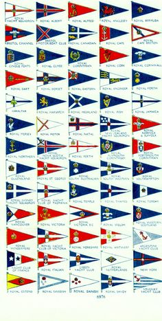 Antique print YACHT CLUB FLAGS vintage nautical print boat flags sailing boating nautical decor on Etsy, $21.72 AUD
