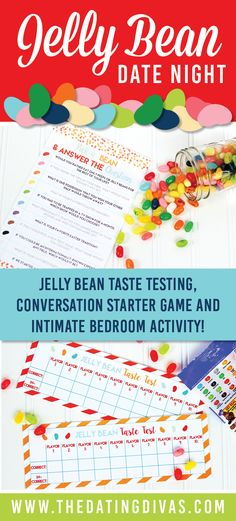 Totally cute and easy date night from The Dating Divas! Just grab a bag of Jelly Beans! Printables designed by https://www.etsy.com/shop/ollieandlulu www.TheDatingDivas.com