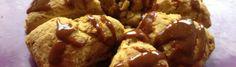 pompoenscones met appelstroopglazuur