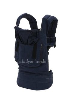 34949a96ace Blue ERGObaby Cotton Carry with One Two Shoulder Cheap