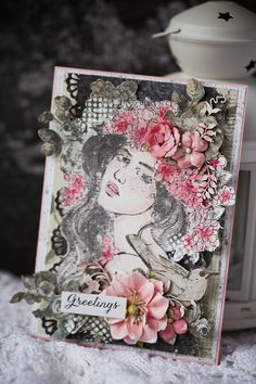 """It is so easy and fun to make Prima Princesses look the way you like with the help of Watercolor confections. Claire, on my card, is wild and free and even a bit mysterious. What would your princess be?"" ~ Vera Shelemekh #watercolor #makeitprima #challenge #primaprincess"