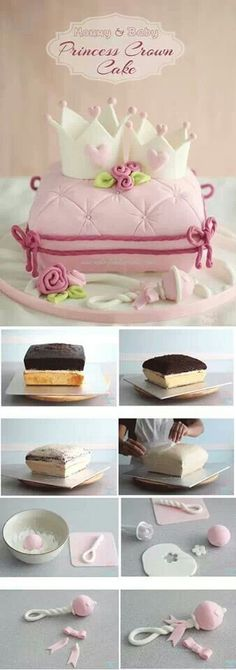 Princess Crown Cake (How to Make a Pillow Cake)