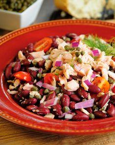 Salmon and Organic Beans Salad