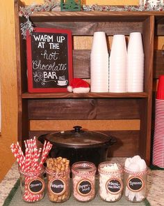 hot cocoa station – Onederland birthday party - To Have a Nice Day Christmas Pajama Party, Christmas Party Games, Christmas Brunch, Christmas Goodies, Family Christmas, Christmas Treats, Christmas Birthday Party, Christmas Movie Night, Christmas Party Themes For Adults