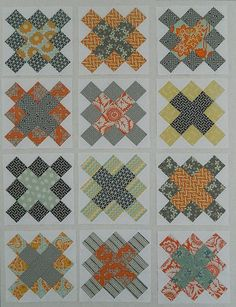 heirloom and hope valley grannie squares. Love the grey, yellow, orange combo