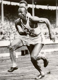 African American track star Jesse Owens participated in the 1936 Summer Olympics in Berlin, Germany, where he achieved international fame by winning four gold medals. The first medal was for the sprint on August defeating Ralph Metcalfe. Jesse Owens, 1936 Olympics, Summer Olympics, Berlin Olympics, Vive Le Sport, Long Jump, Olympic Gold Medals, Sport Icon, Sports Figures