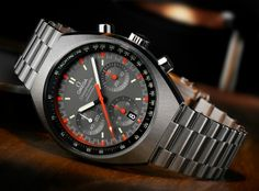 """Omega Speedmaster Mark II Reissue Watch For 2014 - by Ariel Adams - Read and see more on aBlogtoWatch.com """"In 1969 Omega introduced the Speedmaster Mark (Mk) II as an updated version of the outgoing Speedmaster. We even have the price below - which is lucky given how early this is being announced...."""""""