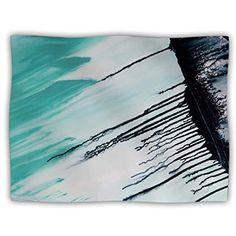 40 x 30 KESS InHouse Brittany Guarino Art Blue Aqua Wood Fleece Baby Blanket