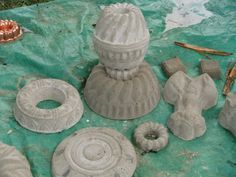 Garden Art From Junk Dishes | You can take it even a step further, and make your own molds! Check ...
