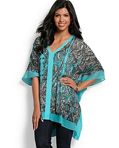 Tommy Bahama - Palace Paisley Silk Tunic (OSFA)  $178 (NO WISHLIST OPTION)