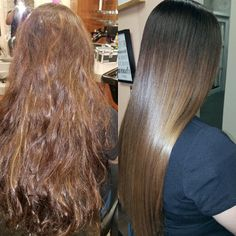 Before and after. Evy's hairstyles  in torrance.