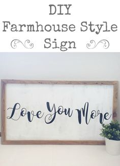 DIY Farmhouse Style Sign made for only $9!