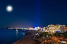 We've managed to find this panorama view of #faliraki #beach at #august #fullmoon #night, enjoy!!!